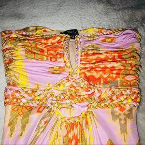 Braided summer maxi dress